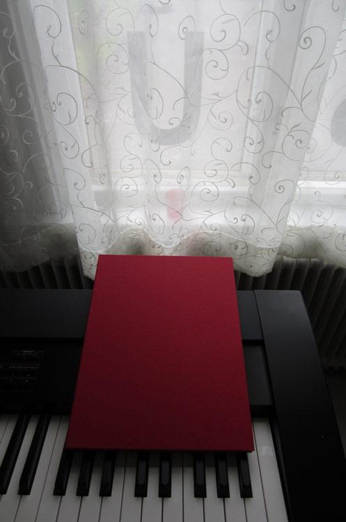 The portfolio in beautiful red